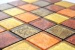 Mosaikfliese Transluzent Glasmosaik Crystal gold orange Struktur MOS120-07424_m
