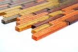 Mosaikfliese Transluzent Verbund Glasmosaik Crystal gold orange Struktur MOS86-07814