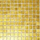 Mosaikfliese Transluzent Glasmosaik Crystal gold Struktur MOS120-0782
