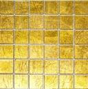 Mosaikfliese Transluzent Glasmosaik Crystal gold Struktur MOS120-0786