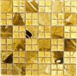 Mosaikfliese Transluzent Kombination Glasmosaik Crystal Desert gold MOS88-8DSG