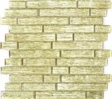 Mosaikfliese Transluzent Verbund Glasmosaik Crystal Chic gold MOS86-8CGO