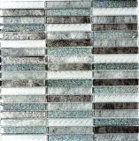 Mosaikfliese Transluzent Stäbchen Glasmosaik Crystal Day silber MOS87-STDS