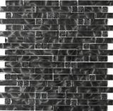 Mosaikfliese Transluzent Verbund Glasmosaik Crystal Chic schwarz MOS87-MV708