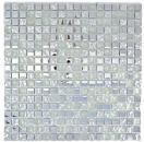 Mosaik Fliese Transluzent Glasmosaik Crystal EP Silber Glas gefrostet MOS92-0217