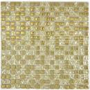 Mosaik Rückwand Transluzent Glasmosaik Crystal  Gold Glas BAD WC Küche WAND MOS92-0707_f