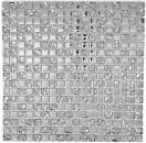 Mosaik Fliese Transluzent Glasmosaik Crystal EP Silber Glas MOS92-0218