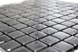 Mosaikfliese Transluzent schwarz Glasmosaik Crystal Lüster schwarz MOS88-8LU89