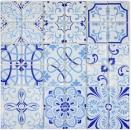 Retro Vintage Mosaikfliese Transluzent blau Glasmosaik Crystal MALTA MOS68-Retro-M_f | 10 Mosaikmatten