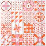 Retro Vintage Mosaikfliese Transluzent rot Glasmosaik Crystal Design rot MOS88-Retro-37