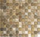 Retro Vintage Mosaikfliese Transluzent beige braun grau Glasmosaik Crystal Stein rustikal MOS82-1206