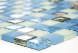 Mosaikfliese Transluzent blau Glasmosaik Crystal Muschel blau MOS82B-0104