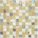 Mosaikfliese Transluzent beige Glasmosaik Crystal Muschel beige MOS82B-0112
