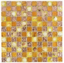 Mosaik Fliese Transluzent orange Glasmosaik Crystal Muschel orange MOS82B-0708