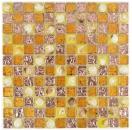 Mosaikfliese Transluzent orange Glasmosaik Crystal Muschel orange MOS82B-0708