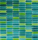 Mosaikfliese Transluzent strichgrün Stäbchen Glasmosaik Crystal strichgrün MOS77-0508