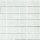 Mosaik Fliese Transluzent weiß Glasmosaik Crystal Hologram Barcode weiß MOS110-0104