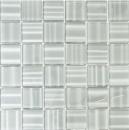 Mosaik Fliese Transluzent grau Glasmosaik Crystal Hologram Barcode grau MOS110-0202