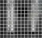 Mosaikfliese Transluzent schwarz Glasmosaik Crystal schwarz MOS60-0304