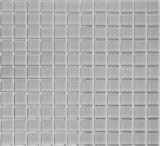 Mosaikfliese Transluzent grau Glasmosaik Crystal hellgrau BAD WC Küche WAND MOS70-0204