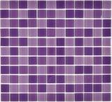 Mosaikfliese Transluzent lila Glasmosaik Crystal lila BAD WC Küche WAND MOS62-1104