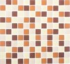 Mosaik Fliese Transluzent braun Glasmosaik Crystal braun matt gefrostet MOS72-1311