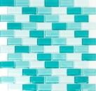 Mosaik Fliese Transluzent hell hellgrün hellgelb Brick Glasmosaik Crystal hell hellgrün hellgelb MOS76-0602