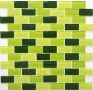 Mosaikfliese Transluzent grün Brick Glasmosaik Crystal hellgrün grün dunkelgrün MOS66-0506