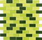Mosaikfliese Transluzent grün Brick Glasmosaik Crystal hellgrün grün dunkelgrün MOS76-0506_f | 10 Mosaikmatten