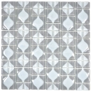 Mosaikfliese Transluzent grau 3D grau Red Dot Design BAD WC Küche WAND MOS68-0215