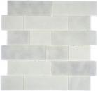 Mosaikfliese Transluzent weiß Mauerverbund Bianco BAD WC Küche WANDMOS68-0139L