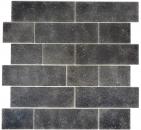 Mosaikfliese Transluzent schwarz Mauerverbund Nero MOS68-0349L