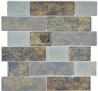 Mosaikfliese Transluzent schwarz Mauerverbund Rusty Black MOS68-2569L