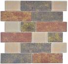 Mosaik Fliese Transluzent braun Mauerverbund Rusty Brown MOS68-1379L