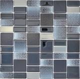 Mosaikfliese Transluzent schwarz Kombination schillernd schwarzfarbend MOS68-035B