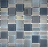 Mosaikfliese Transluzent grau Kombination schillernd graufarbend MOS68-0213G
