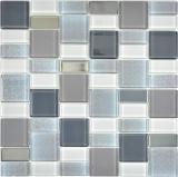 Mosaikfliese Transluzent rauch Kombination schillernd rauchfarbend MOS68-0216F