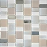 Mosaikfliese Transluzent perl Kombination schillernd perlfarbend MOS68-0136P