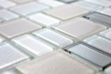 Mosaikfliese Transluzent perl Kombination schillernd perlfarbend MOS68-0136P_f | 10 Mosaikmatten