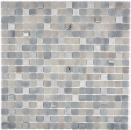 Mosaikfliese Transluzent Stein grau GRIGIO BAD WC Küche WAND MOS91-0204
