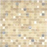 Mosaikfliese Transluzent Stein weiß SILK BAD WC Küche WAND MOS91-0214