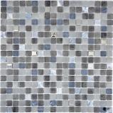 Mosaikfliese Transluzent Stein schwarz NERO BAD WC Küche WAND MOS91-0334