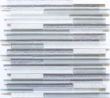Mosaik Fliese Transluzent Komposit weiß Multistick Glasmosaik Crystal Artificial weiß MOS86-MS90