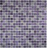 Mosaikfliese Transluzent lila Glasmosaik Crystal Resin lila lila matt BAD WC Küche WAND MOS92-1107