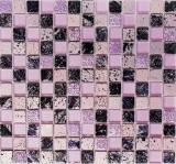 Mosaikfliese Transluzent pink Glasmosaik Crystal Resin pink BAD WC Küche WAND MOS82-1104