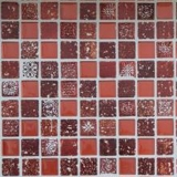 Mosaik Fliese Transluzent rot Glasmosaik Crystal Resin rot MOS82-0906