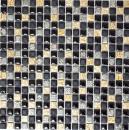 Mosaikfliese Resin schwarz kupfer Resin Stein schwarz kupfer MOS92-0301