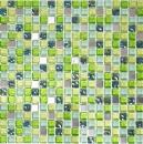 Mosaikfliese Transluzent Edelstahl grün Glasmosaik Crystal Stahl grün MOS92-0506