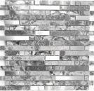 Mosaik Fliese Transluzent Edelstahl grau Verbund Glasmosaik Crystal Stein Stahl grau MOS87-MV778