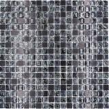 Mosaikfliese Transluzent schwarz Glasmosaik Crystal Stein schwarz MOS92-1028